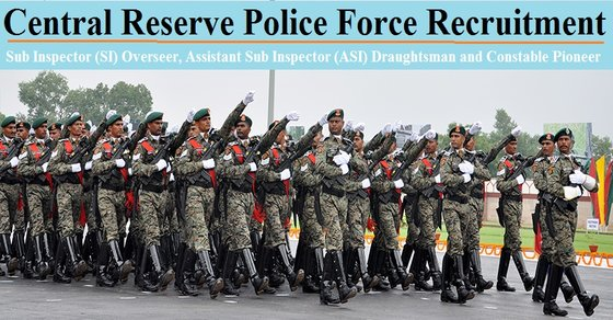 Central Reserve Police Force Recruitment 2017