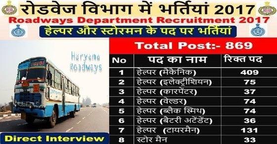 Haryana Roadways Recruitment 2017