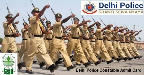 Delhi Police Constable Admit Card 2017