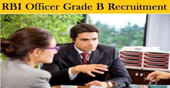 Reserve Bank RBI Officer Grade B Recruitment 2017