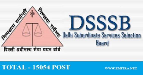 DSSSB 3552 Various Posts Recruitment 2020