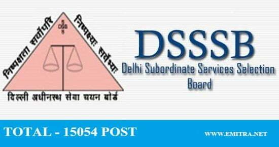 DSSSB 3552 Various Posts Recruitment 2020
