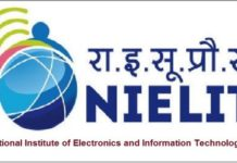 National Institute of Electronics and Information Technology (NIELIT) Recruitment 2017
