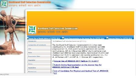 Jharkhand SSC SI Radio Recruitment Result 2017