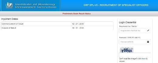 IBPS Specialist Officer SO Result 2018