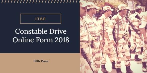 ITBP Constable Driver Vacancy 2018