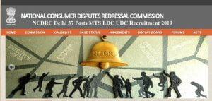 NCDRC Delhi 37 Posts MTS LDC UDC Recruitment 2019