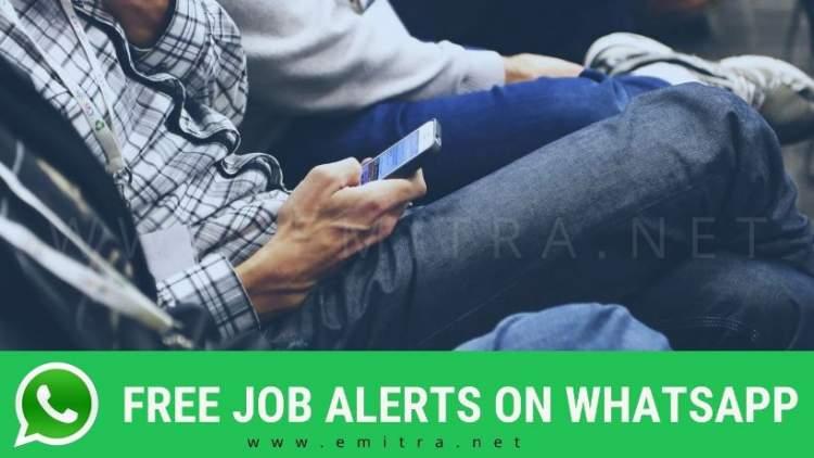 free job alerts on whatsapp