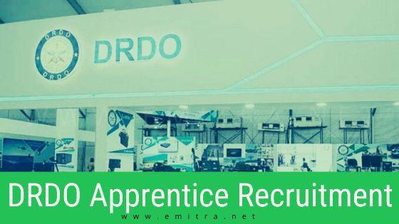 DRDO Apprentice Recruitment 2020
