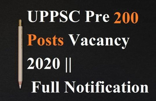 UPPSC Pre 200 Posts