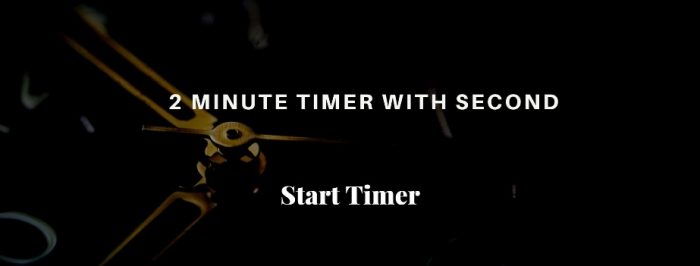 2 Minute Timer