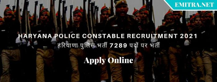 Haryana HSSC Police Constable Recruitment 2021