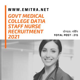Govt Medical College Datia Staff Nurse