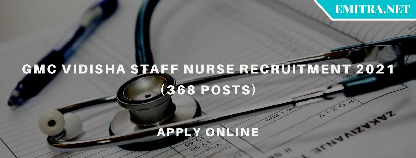 GMC Vidisha Staff Nurse
