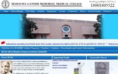 MGMMC Indore Nursing Sister Staff Nurse 306 Posts